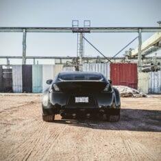 Black 370z Back Shot